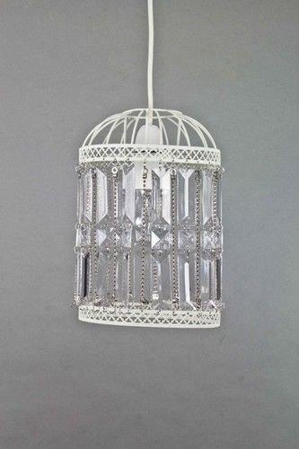 Cream ivory bird cage crystal acrylic pendant ceiling light shade cream ivory bird cage crystal acrylic pendant ceiling light shade vintage styl aloadofball Gallery