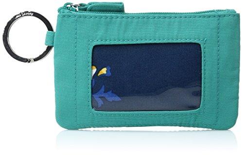 Vera Bradley Women's Zip Id Case, Turquoise Sea