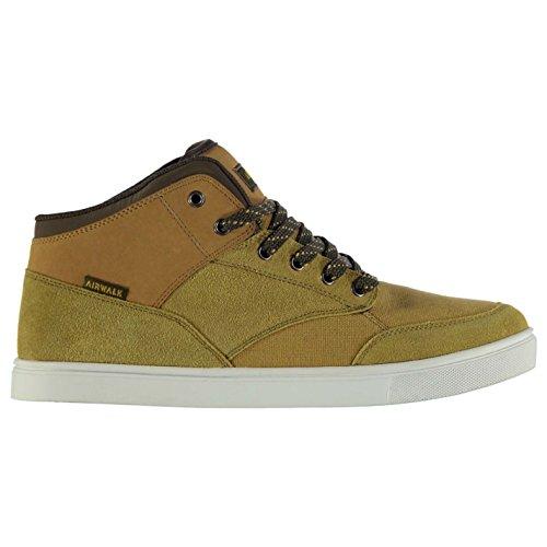 Airwalk vorzubeugen Mid Top Skate Shoes Herren Weizen Turnschuhe Sneakers Schuhe
