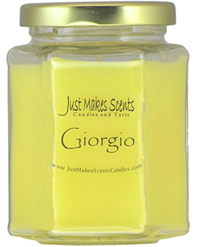Giorgio (designer perfume type) Scented Blended Soy Candle | Designer Scent | Hand Poured Candles by Just Makes Scents (8 oz)