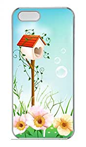 iPhone 5 5S Case Red Mailbox Funny Lovely Best Cool Customize iPhone 5S Cover Transparent