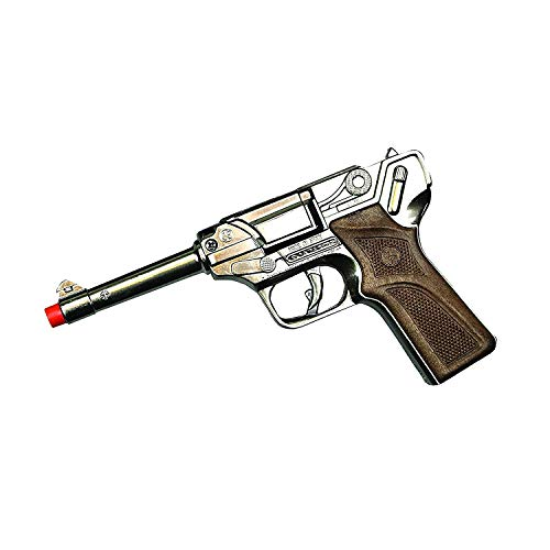 Big Game Toys~Luger German-Style Toy Cap Gun Semi-auto Pistol-Metal-Prop-Costume 8-Shot-Ring caps