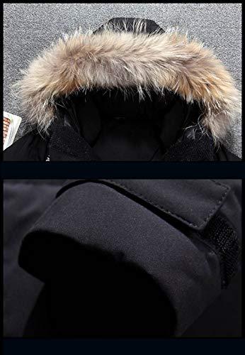 Vestons Hommes Grand Red Collier Doudoune Couleur Costumes Réparation Xl Manteau Noir Automne Air De Hommes D'hiver Costume Et Lourd Plein Pour Corps Cheveux Taille Hiver 5vF4zq