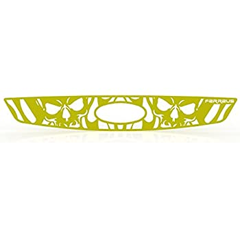 Ferreus Industries Grille Insert Guard Skull Flame Red Powdercoat fits 2004-2008 Ford F-150 TRK-119-10-Red-a