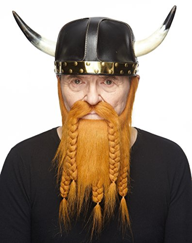 Mustaches Self Adhesive, Novelty, Fake Viking Dwarf Beard, Ginger Color by Mustaches (Image #1)