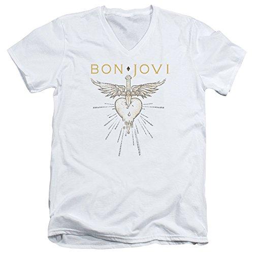Trevco Bon Jovi Greatest Hits Unisex Adult V-Neck T Shirt For Men and Women ()