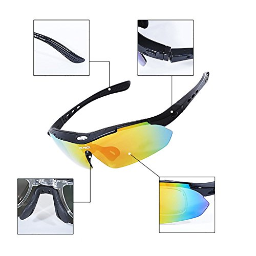 Sol Unisex De Lentes Alpino Intercambiables Esquí HECHEN Pesca Protección Grupos Ciclismo D UV 5 Polarizadas De Gafas D Gafas Deportivas fxwqTI6