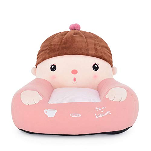 (WAYERTY Kid Sofa, Children's Armchair Cartoon Girl Mini Baby Couch Seat Lazy Tatami Upholstered Cushion Removable Kid Chair-Pink W60xH48cm(24x19inch))