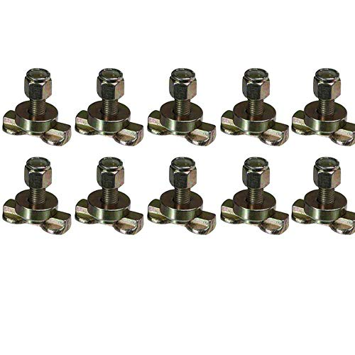 L-Track Double Lug Threaded Stud Fitting 10 Pack by US Cargo Control (L Track Double Lug Threaded Stud Fitting)