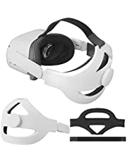Eyglo Replace Adjustable Elite Strap for Oculus Quest 2 Head Strap Headband, Enhanced Support and Reduce Head Pressure Comfortable Touch (White)