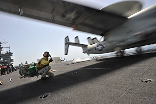 Hawkeye Shooters - Home Comforts A Shooter Aboard The Aircraft Carrier USS Enterprise (CVN 65) launches an E-2C Hawkeye assigned to t
