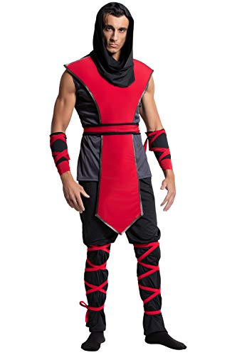 Yandy Men Sleeveless Top Lethal Ninja Assassin Halloween Cosplay Costume Small Black/Red]()