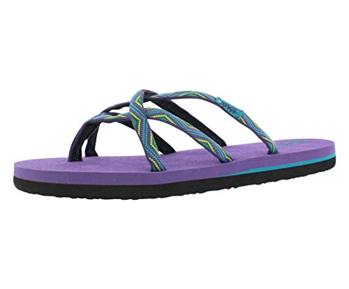 Teva Olowahu Kids Slide Sandal (Toddler/Little Kid/Big Kid), Purple, 7 M US Big Kid (Big Purple Slide)