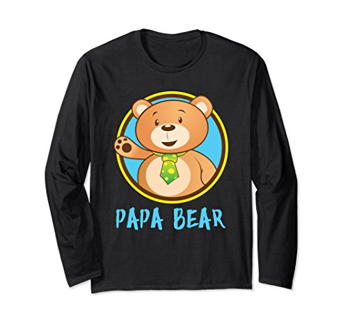 Unisex Papa Bear' Cute Papa Bear Couple Shirt Large Black (Black Bear Yogi)