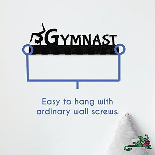 Lizatards Gymnastics Medal Display Rack & Holder with 8 Hooks in Black Sparkle Finish by Lizatards (Image #5)