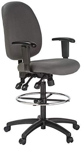 Extra Tall Ergonomic Drafting Chair Gray Black