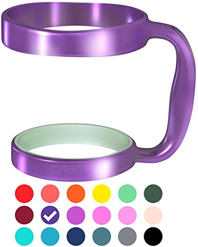 F-32 Handle - 18 COLORS - Available For 30oz or 20oz YETI, RTIC, OZARK TRAIL, SIC CUP Rambler & More Tumbler Mug - Black Seafoam/Deep Blue Wine Gray Pink Color & More - BPA FREE (30OZ, PURE PURPLE)