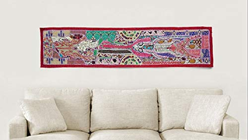 (Table Runner, handmade Wall Hanging Bohemian patchwork Tapestries, Headboard tapestries, Runner, WALL Art Embroidered Vintage Tapestry)