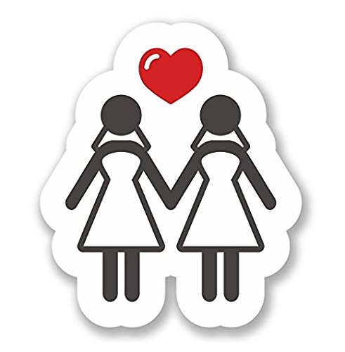 - 3 Pack - Lesbian Gay Marriage WINDOW CLING STICKER Car Van Campervan Glass - Sticker Graphic - Construction Toolbox, Hardhat, Lunchbox, Helmet, Mechanic, Luggage