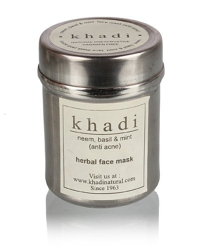 Khadi Natural Herbal Neem, Basil and Mint Anti-Acne Face Pack (50 g)