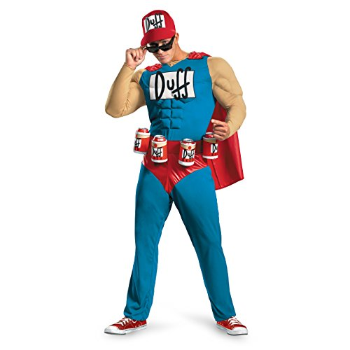 Duffman Halloween Costume (Disguise Costumes Duffman Classic Muscle Adult Costume -)