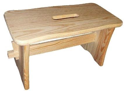 Strange Wooden Step Stool Solid Wood Unpainted Flatpack Theyellowbook Wood Chair Design Ideas Theyellowbookinfo