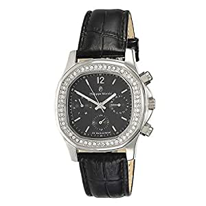 Philippe Moraly Women's Black Dial Leather Band Watch - LS1152WBB