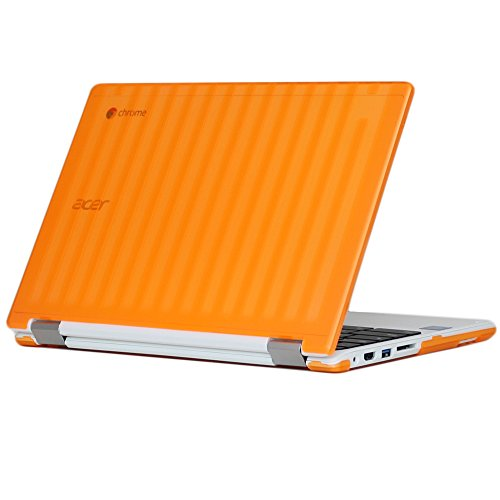 iPearl-mCover-Hard-Shell-Case-for-133-Acer-Chromebook-R13-CB5-312T-series-NOT-compatible-with-Acer-R11-and-other-116-chromebooks-Convertible-Laptop-Acer-R13-Orange
