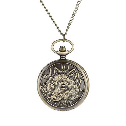 - Muranba 2019 ! Vintage Flower Pocket Watch Quartz Necklace Chain Men Women for Girls Gifts (Z)