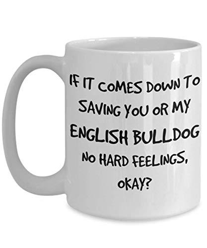 Funny English Bulldog Mug - White 11oz 15oz Ceramic Tea Coffee Cup - Perfect For Travel And Gifts