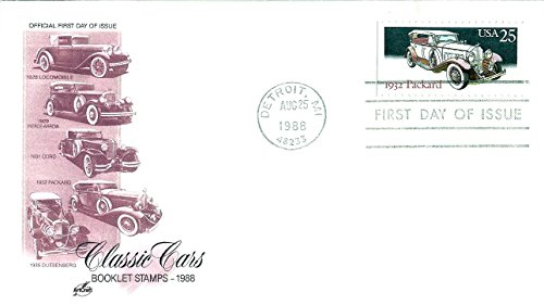 First Day Cover 1988 US#2384 Car Series (1932 Packard) 25 Cent Postage Stamp (25 Cents 1932)