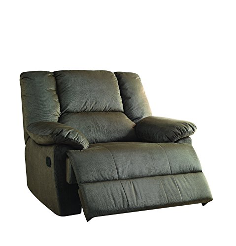 ACME Furniture 59416 Oliver Oversized Glider Recliner (Motion), Sage Corduroy (Green Motion Recliner Chair)