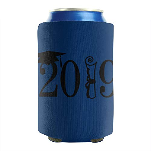 Happy Graduation 2019 Cap 12-16 OZ Bottles Premium Neoprene Beer Can Sleeves Soft Drink Non-Slip Can Sleeve Covers Collapsible Double Sided 2 Pack Funny Party Gift (Best Budget Coffee Machine 2019)