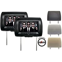 Concept Chameleon 9 Headrest Monitor Package with Interchangeable Color Covers and a FREE SOTS Air Freshener Included