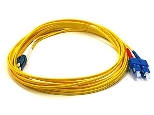 Monoprice 104898 5-Meters LC/SC Single Mode Duplex Fiber Optic Cable - Yellow
