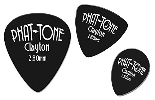 (Clayton Phat-Tone Rounded Triangle Rubber Picks 3-Picks)