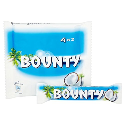 Original Mars Bounty Coconut and Chocolate 4 Pack, Imported from the UK, England Mars Bounty Bounty Milk Chocolate Bar