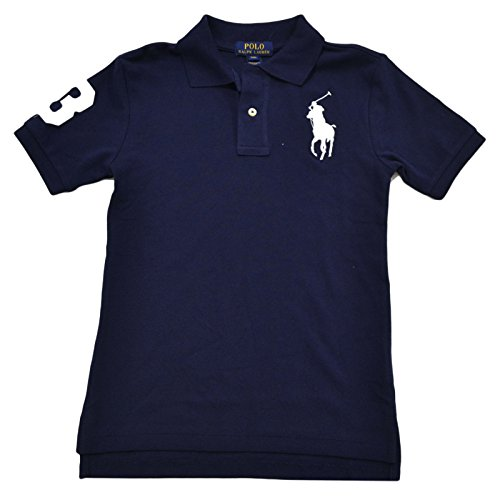 Polo Ralph Lauren Boys Mesh Big Pony Logo Polo (X-Large, - Ralph Polo Navy Blue Lauren