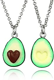 Cute Avocado Shape Pendant Necklace for Women Girl Fruit Shape Chains Charms Necklace Party Gifts