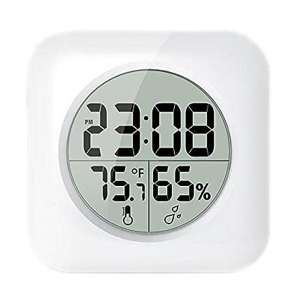 LOTOS - Reloj de pared de baño digital impermeable