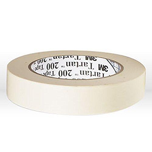 3M Tartan 200 Crepe Paper Utility Purpose Masking Tape, 200 Degree F Performance Temperature, 19 lbs/in Tensile Strength, 55m Length x 12mm Width, Tan (Tartan 200 Masking Tape)
