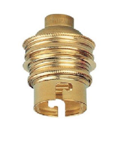 Legrand LEG97103 Douille laiton avec bague/sortie de câble sur le côté pour Ampoule à baïonnette B22