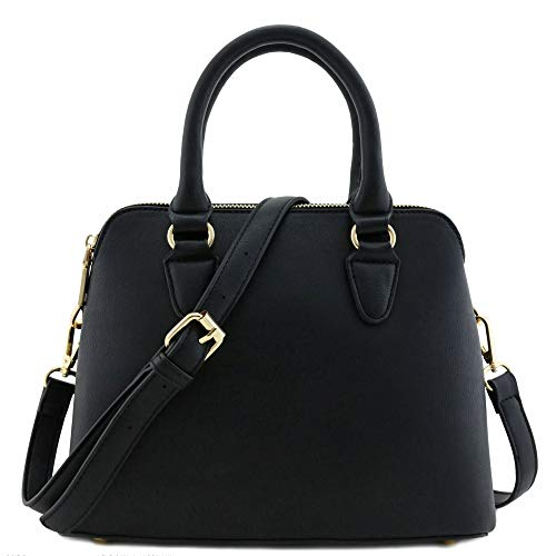 Black Satchel Handbag - 1
