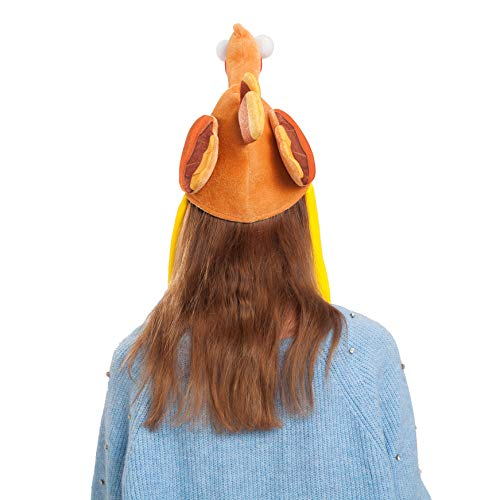Plush Turkey Gobbler Hat with Long Neck for Happy Thanksgiving Party Costume, Outfit and Dress - http://coolthings.us