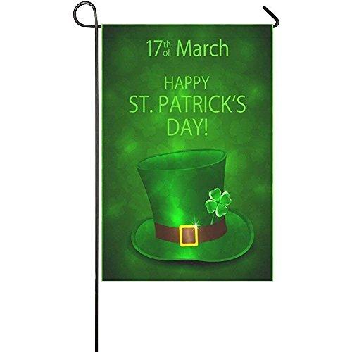 Happy Shamrock St. Patrick's Day Garden Flag Banner 12 x 18
