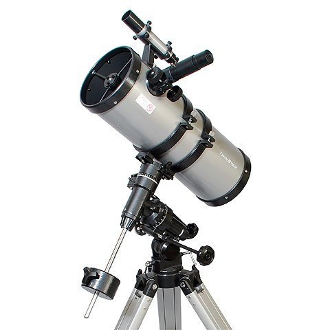 Silver AstroVenture 6'' Short Tube Reflector Telescope with Digital USB Camera