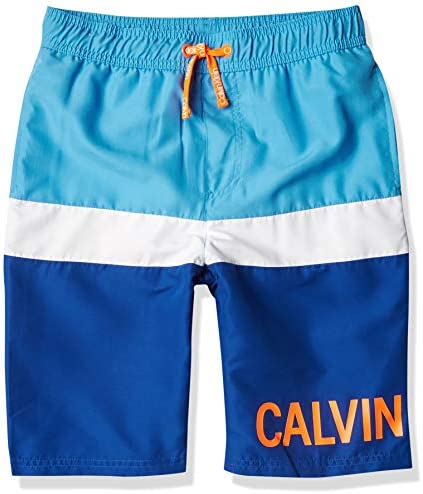 Calvin Klein Boys' Swim Trunk with UPF 50+ Sun Protection