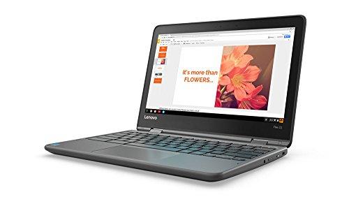 Lenovo Flex 11 Chromebook 11.6-Inch HD IPS Touch Panel (1366x768) MTK 8173c 4GB 32GB Chrome - ZA270025US by Lenovo