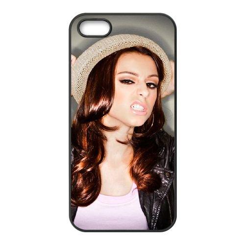 Cher Lloyd 006 coque iPhone 5 5S cellulaire cas coque de téléphone cas téléphone cellulaire noir couvercle EOKXLLNCD22782