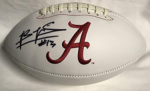 Tua Tagovailoa Hand Signed/Autographed Alabama Crimson Tide Logo Football - JSA Certified